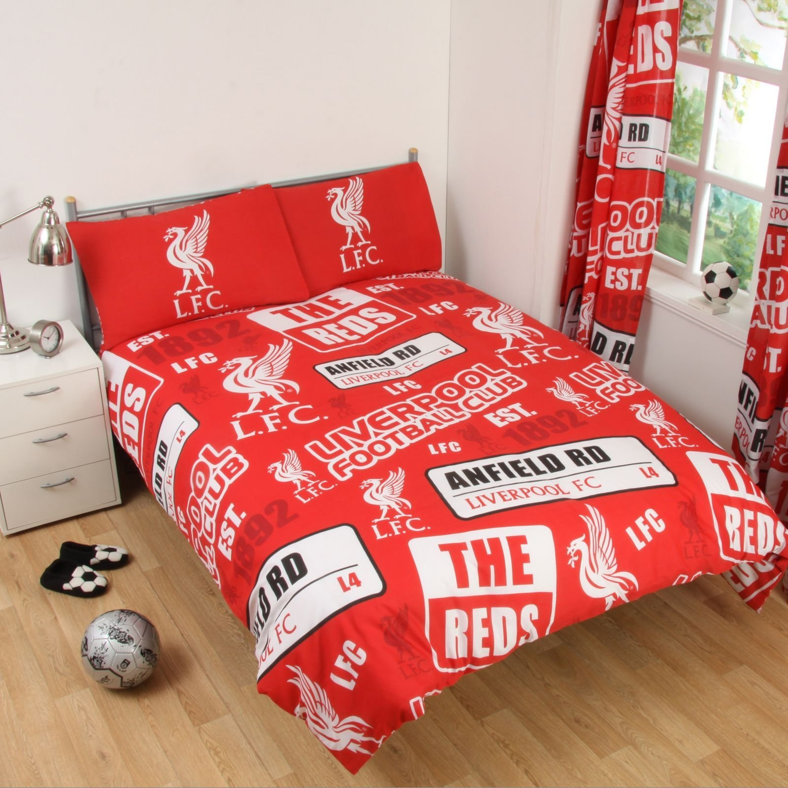 Best Single And Double Fc Duvet Cover Bedding Sets Official Football Club Designs Ebay With Pictures
