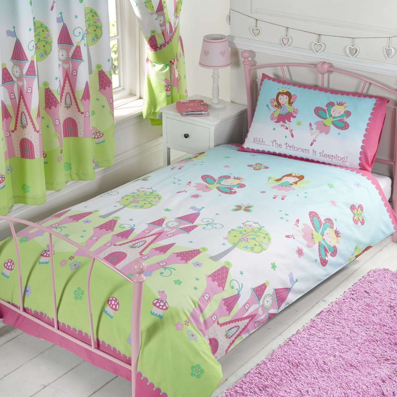 Best Fairy Princess Sleeping Single Duvet Cover Set New Girls With Pictures