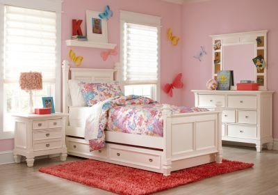 Best Belmar White 5 Pc Full Poster Bedroom T**N Bedroom Sets Colors With Pictures