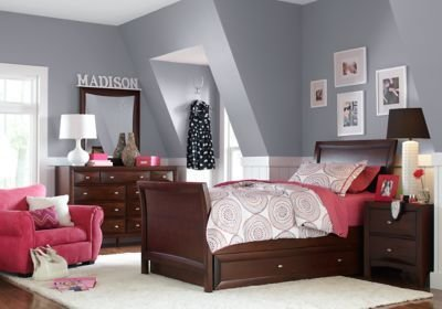 Best Ivy League Cherry 6 Pc Full Sleigh Bedroom Full Bedroom With Pictures