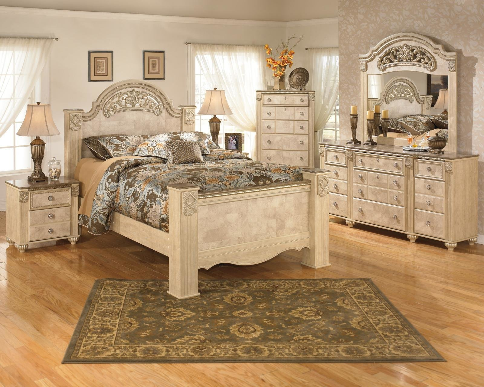 Best Ashley Saveaha B346 Queen Size Poster Bedroom Set 6Pcs With Pictures
