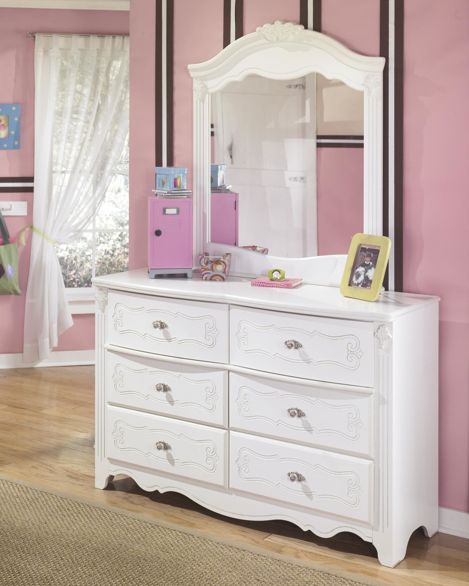 Best Ashley Exquisite B188Y Twin Size Poster Bedroom Set 6Pcs With Pictures