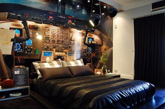 Best The Airplane Cockpit Themed Bedroom Xcitefun Net With Pictures