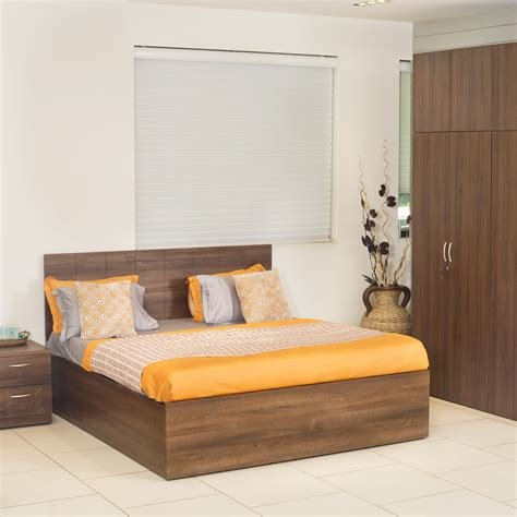 Best Compare Godrej Interio Engineered Wood Bed Side Table Wardrobe Finish Color Cincinnati With Pictures