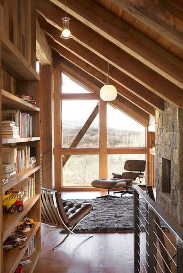 Best Slanted Ceiling Cabin On The Interior Collective The With Pictures