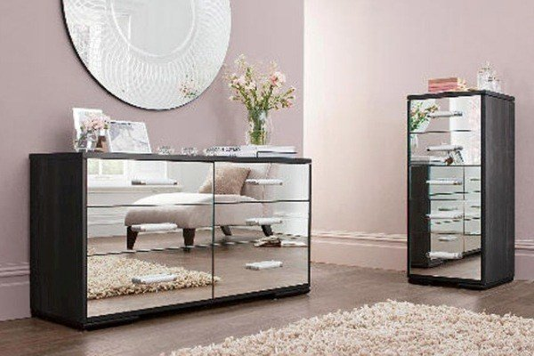 Best Black Mirrored Glass Bedroom Furniture Make Your Home Vintage Modernity Interior Exterior With Pictures