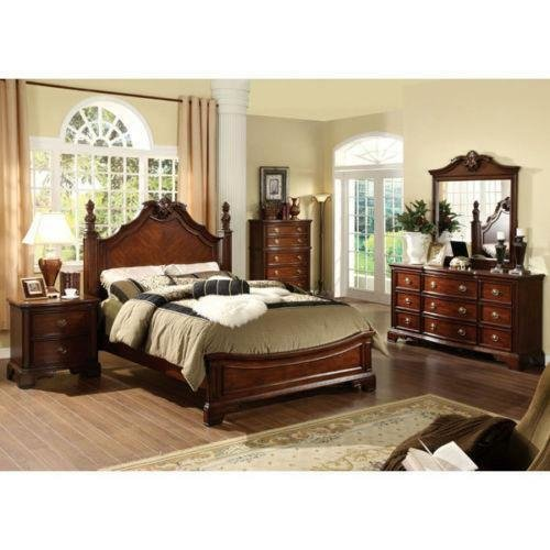 Best Solid Wood King Bedroom Set Ebay With Pictures
