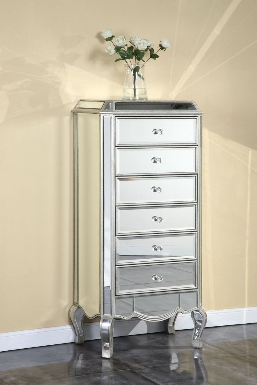 Best Tall Mirrored Cabinet Dresser High Quality Bedroom Living With Pictures