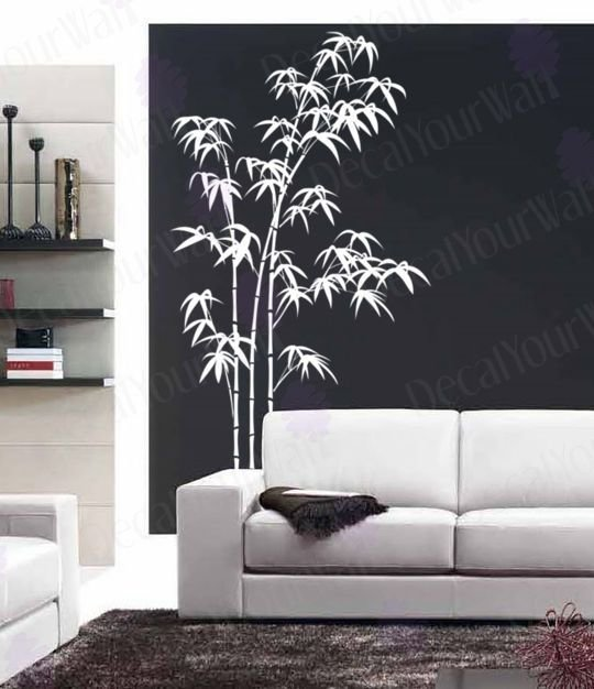 Best Bamboo Wall Decal Large Tree Decals Living Room Bedroom Removable Vinyl Stickers Ebay With Pictures
