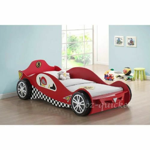 Best Kids Racing Car Bed Single Size 3Dwheel Children Bedroom Furniture Race Bedding Ebay With Pictures