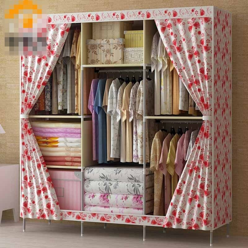 Best Wardrobe Clothes Rack With Shelves Portable Closet Storage Organizer In Bedroom Ebay With Pictures