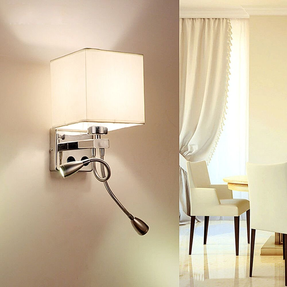 Best Wall Sconce Adjustable Led Wall Lamp Hall Porch Bedroom Reading Fixture Light Ebay With Pictures