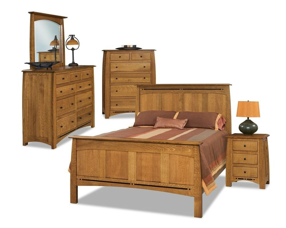 Best Luxury Amish Rustic Panel Boulder Creek Bedroom Set Solid With Pictures