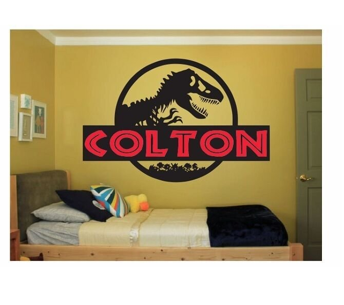 Best Custom Name Jurassicworld Decal Kids Bedroom Wall Sticker With Pictures