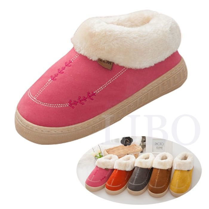 Best Casual Women Men Plush Slippers Winter Warm Bedroom Fur With Pictures