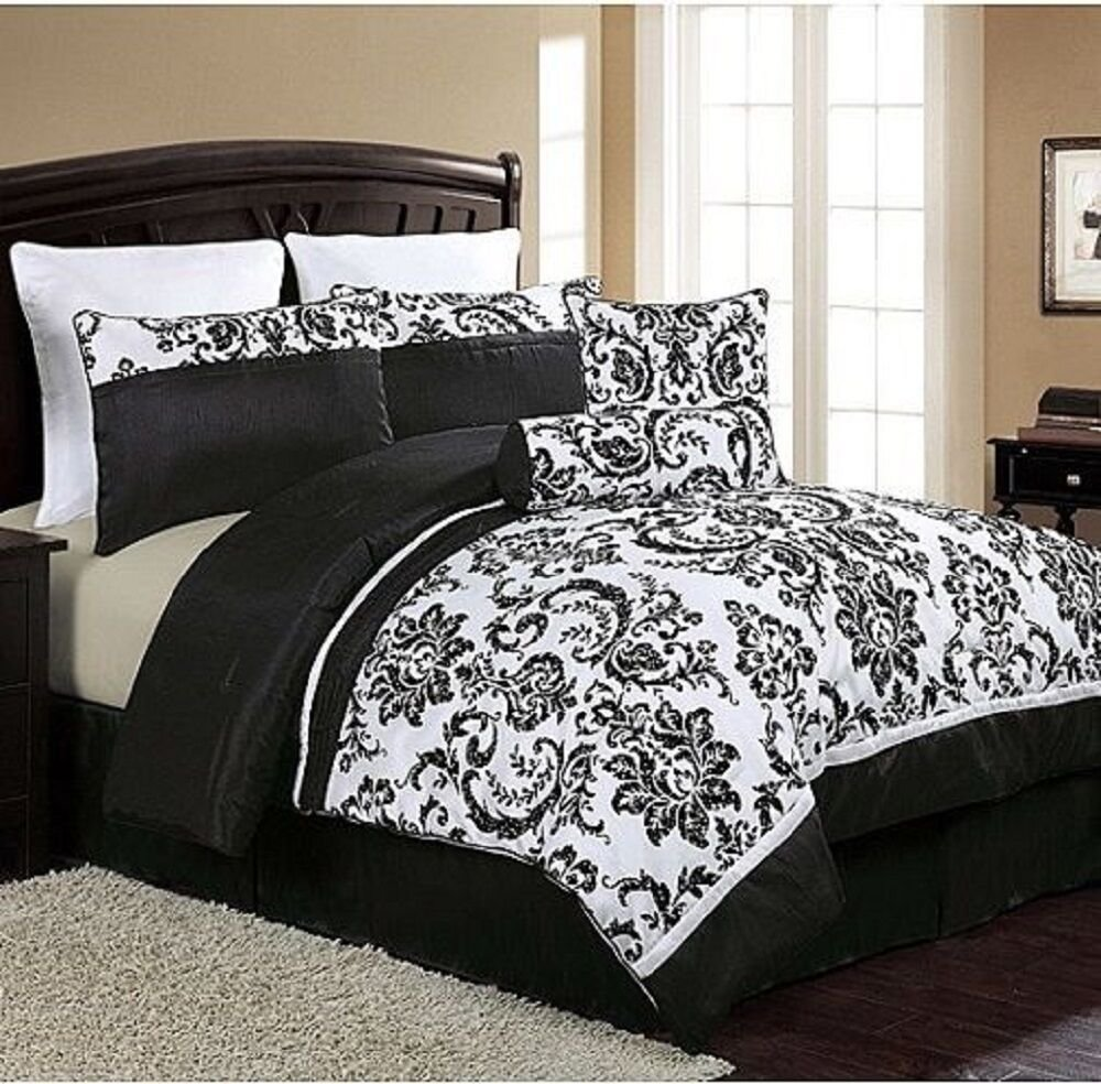 Best New Luxury 8 Piece Comforter Set Queen Size Bed Bedding With Pictures