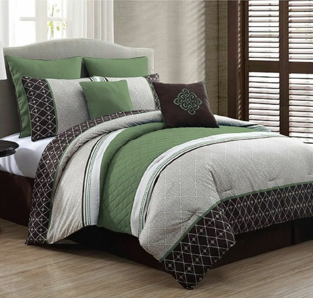 Best New Luxurious King Size Bed In A Bag 8 Piece Comforter Set With Pictures