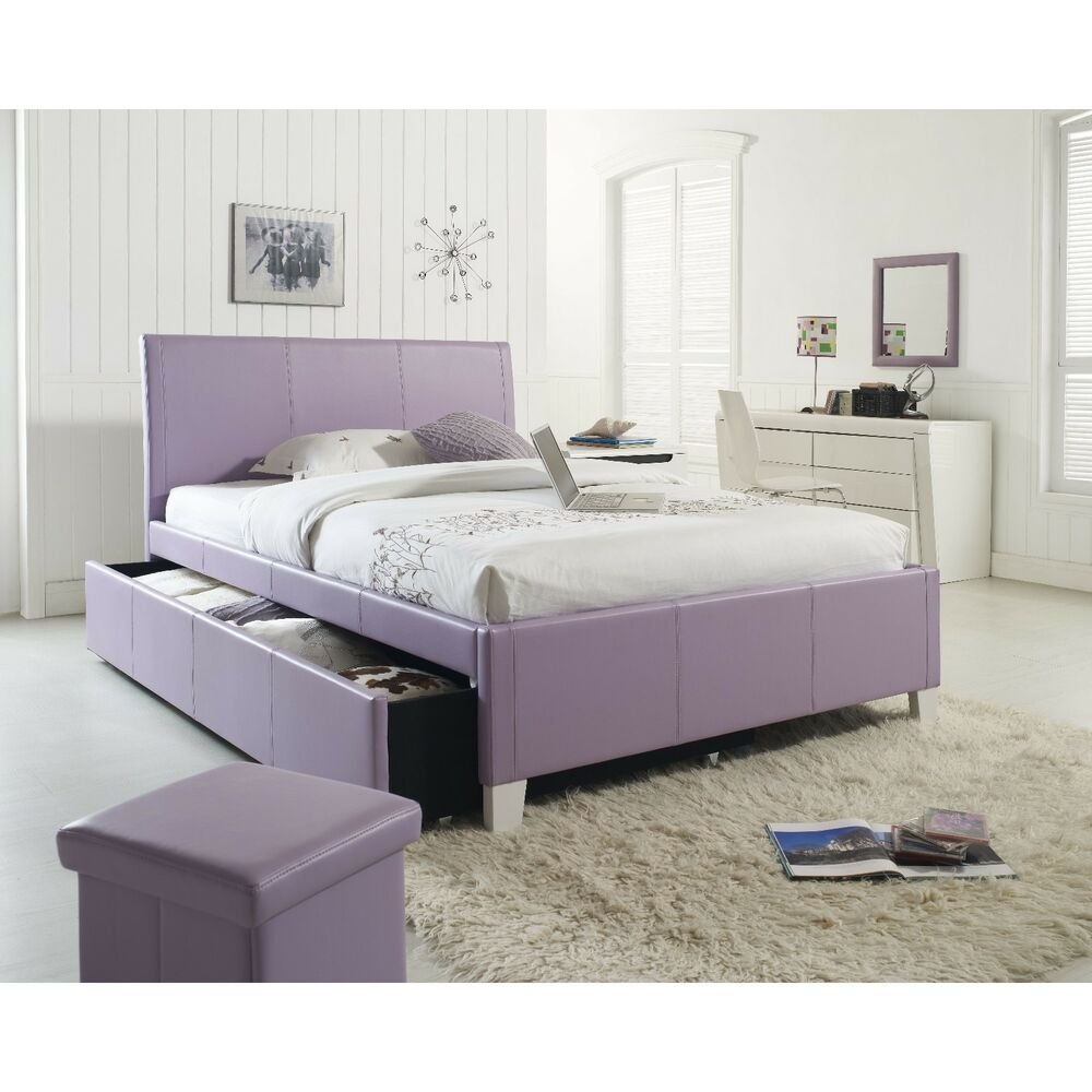 Best Upholstered Platform Trundle Bed Frame Headboard Twin Or With Pictures