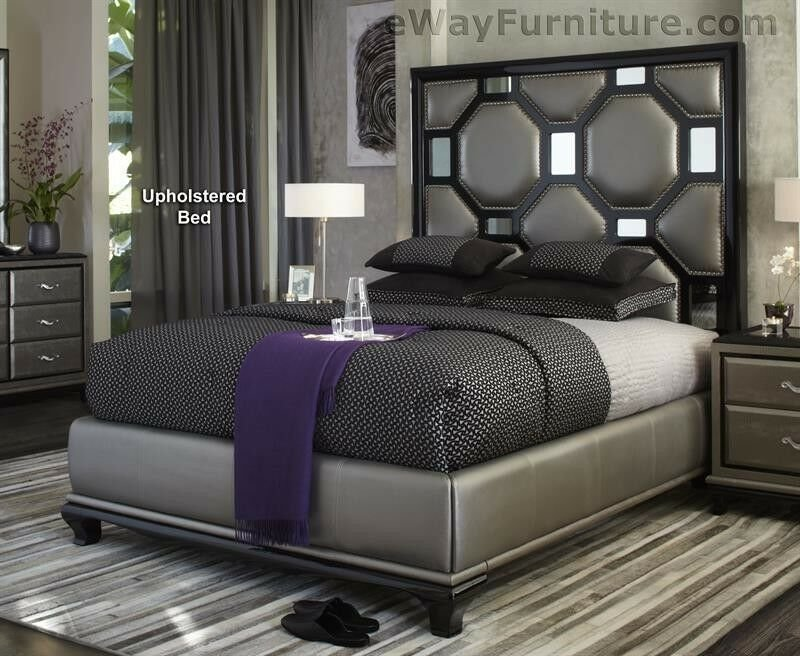 Best After Eight Black Onyx Upholstered Queen Bed Master Bedroom Set Furniture Online Ebay With Pictures