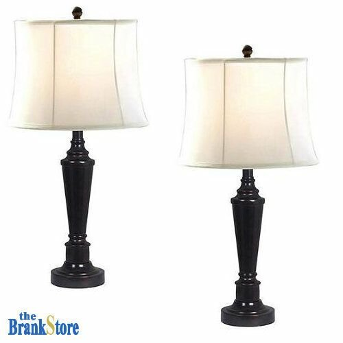 Best Table Lamp Set 2 Traditional Vintage Desk Lamps Pair With Pictures