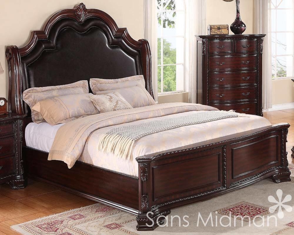 Best King Size 3 Pc Sheridan Collection Traditional Cherry With Pictures