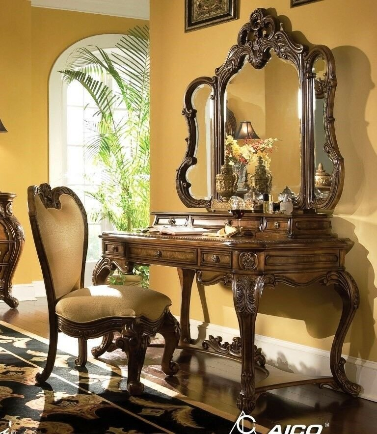 Best Vanity Set With Mirror Chair Makeup Table Writing Drawer Desk Bedroom Furniture Ebay With Pictures