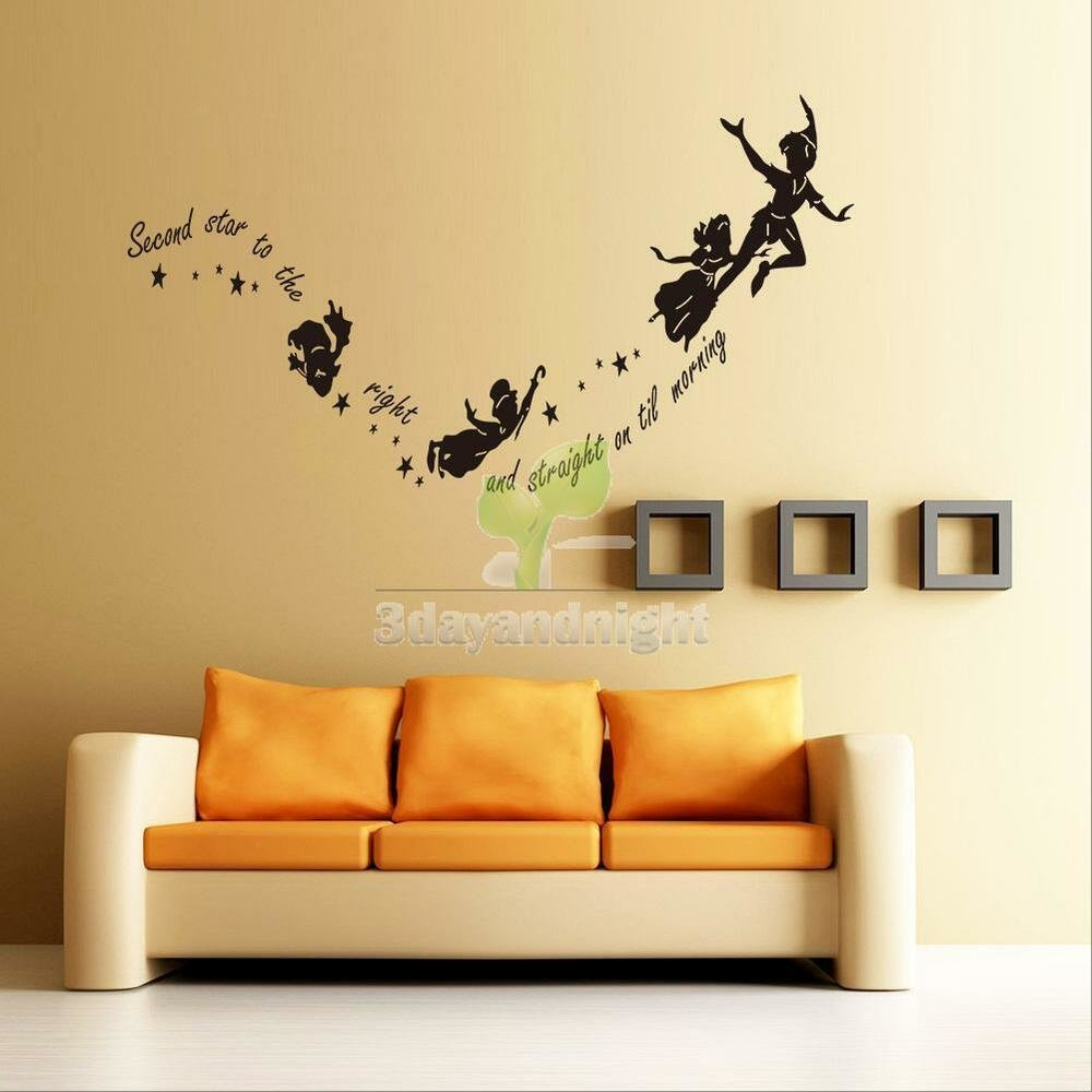 Best Wall Stickers Decal Peter Pan Fairy Vinyl Mural Home With Pictures