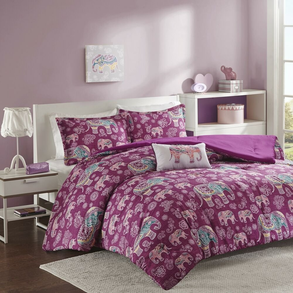 Best Berry Paisley Comforter Set Tribal Elephants Full Queen With Pictures