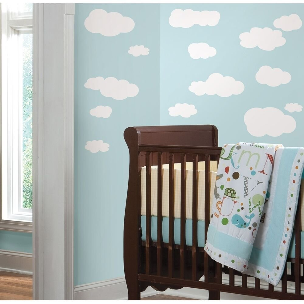 Best 19 New White Clouds Wall Decals Baby Nursery Sky Stickers With Pictures