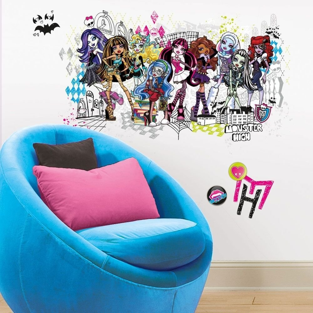 Best Monster High Giant Wall Decals Room Decor Doll Stickers With Pictures