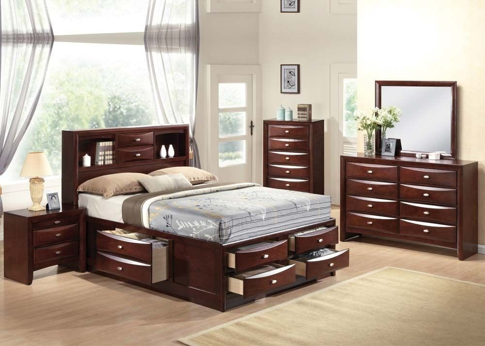 Best Ireland 4 Pc Bedroom Set Queen Full King Size Bed Storage Drawers Espresso Home Ebay With Pictures