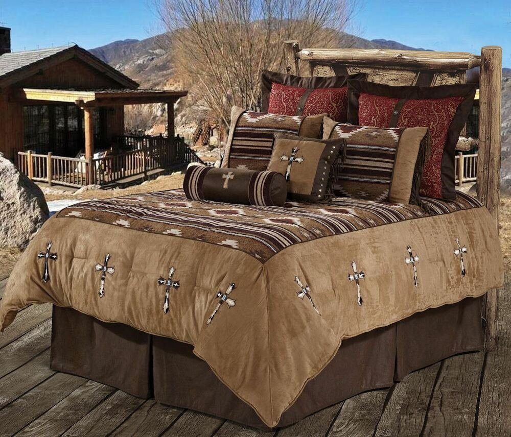 Best Navajo Cross Southwestern Comforter Western Bedding Set Ebay With Pictures