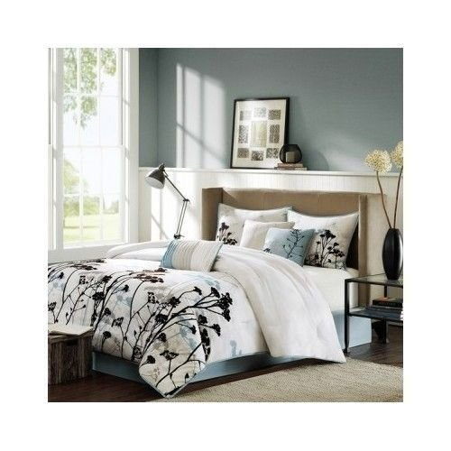 Best Bedroom Comforter Set 7Pc Bed In A Bag Shams Pillows Dorm With Pictures