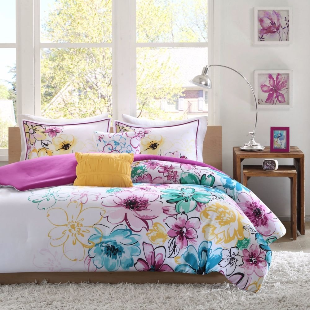 Best Girls Full Comforter Set Or T**N Queen Bedding Reversible With Pictures
