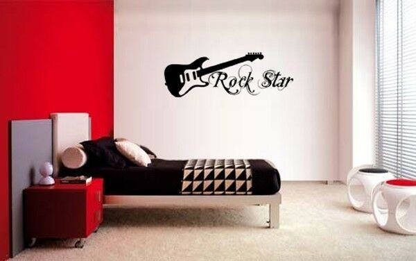 Best Guitar Rock Star Decal Wall Vinyl Decor Sticker Bedroom With Pictures