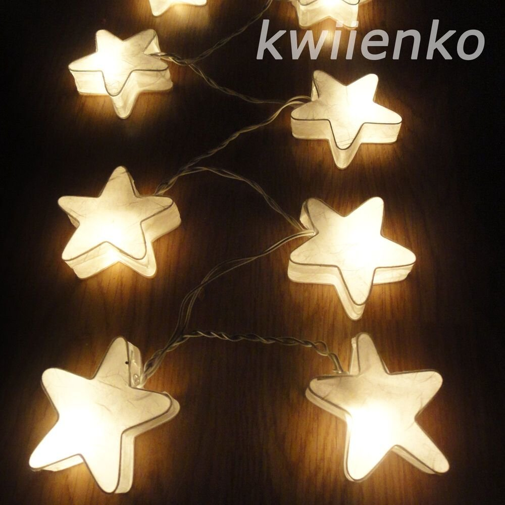 Best 20 White Star Lantern Fairy String Lights Wedding Living With Pictures