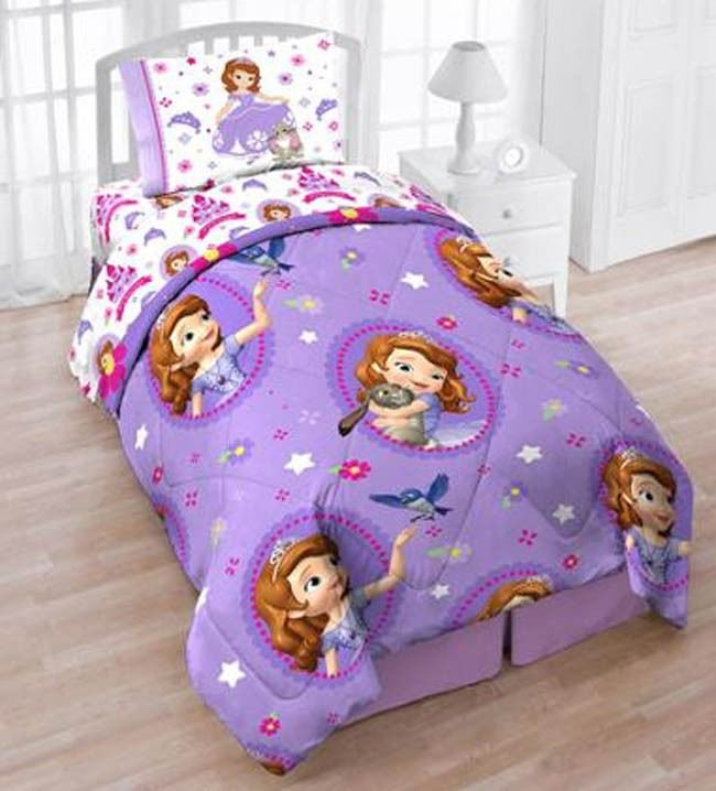 Best Sofia The First 4Pc Twin Bedding Reversible Comforter With Pictures