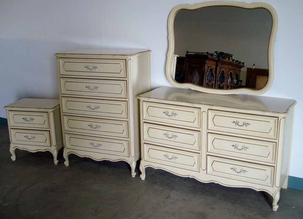 Best Mid Century Modern French Provincial 4 Pc Bedroom Set With Pictures