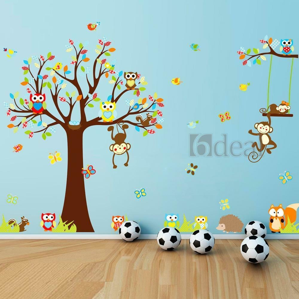 Best Wall Decals Kids Bedroom Tree Owl Baby Nursery1Stickers With Pictures