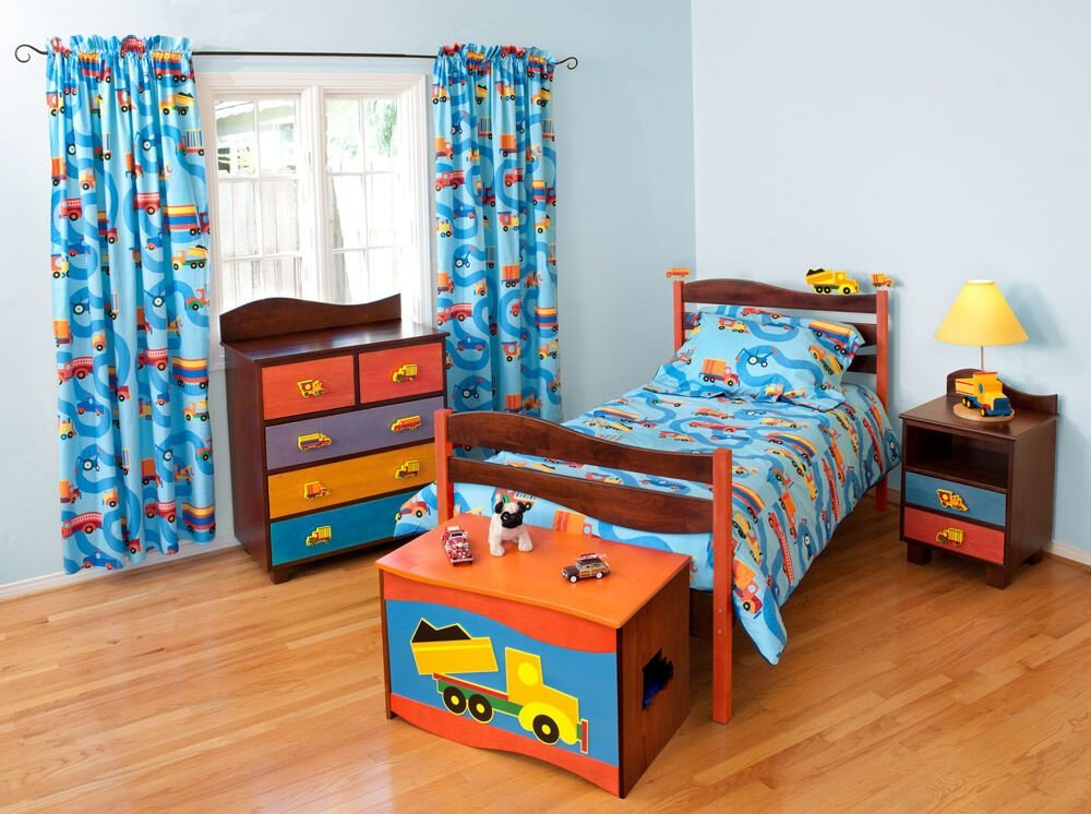 Best 5 Piece Boys Like Trucks Bedroom Set Chocolate Finish Ebay With Pictures