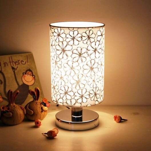 Best Modern Pastoral Style Small Led Table Lamp Desk Lights Bedroom Bedside Lighting Ebay With Pictures