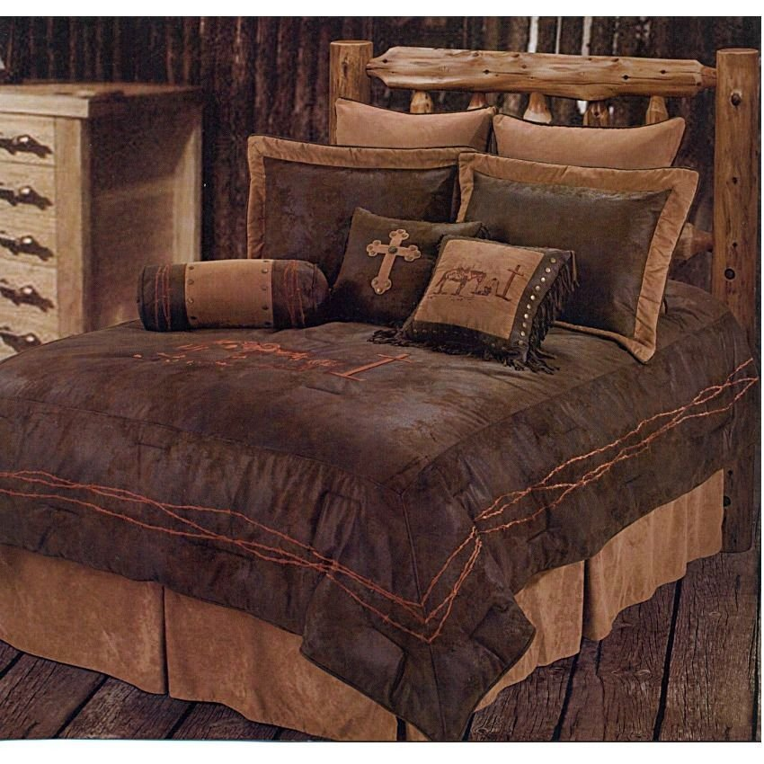 Best New Western Praying Cowboy Comforter Bedding Bedroom Set With Pictures