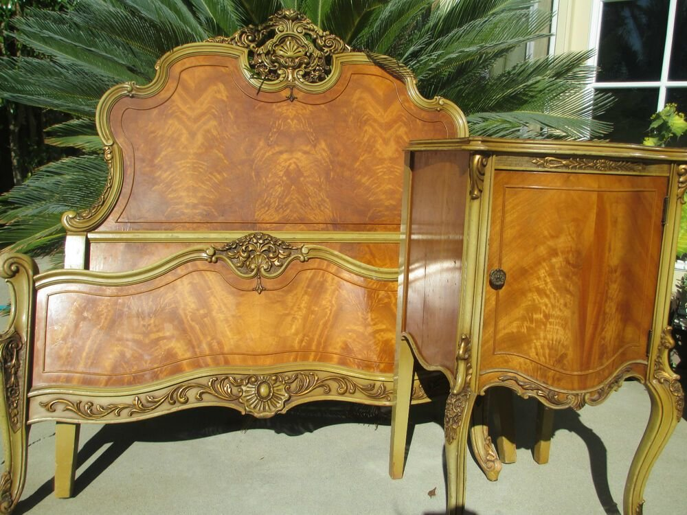 Best Antique French Victorian Style Carved Satin Wood Bedroom Set 1920S 13 Pc Ebay With Pictures