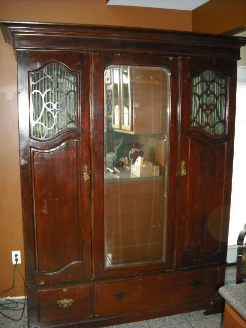 Best Ultra Rare 1800S Bedroom Wardrobe Cabinet Ebay With Pictures