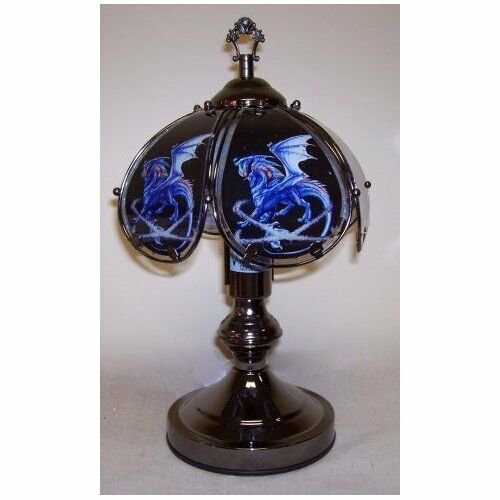 Best Blue Dragon Touch Lamp 14 5 3 Way Touch Glass Shades With Pictures