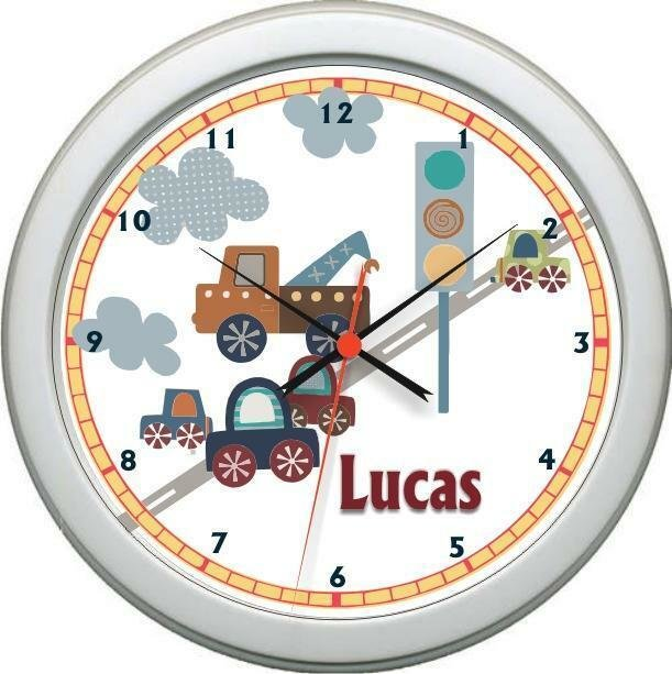 Best Personalized Little Traveler Wall Clock Nursery Boy With Pictures