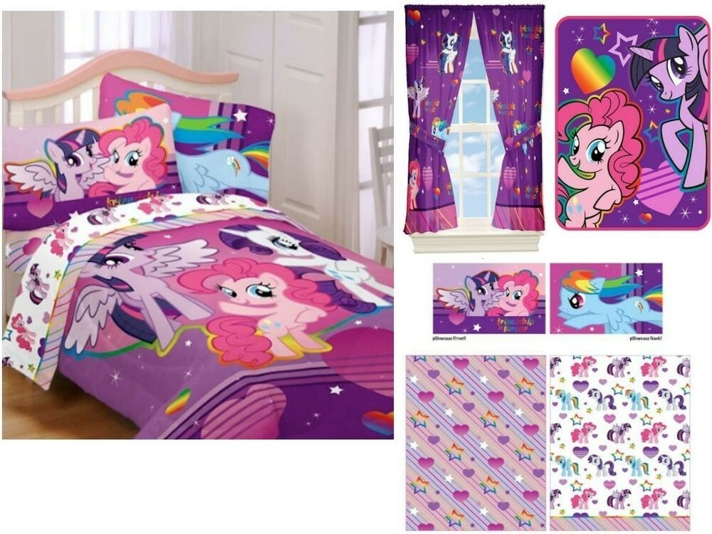 Best Kids Girls Hasbro My Little Pony Bedding Bed In A Bag With Pictures