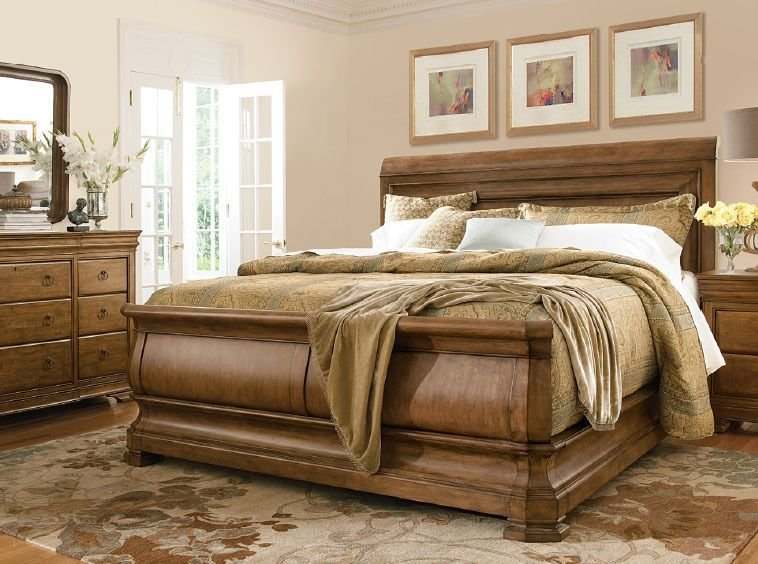 Best 4 Piece Pennsylvania House Solid Wood King Size Sleigh Bed With Pictures