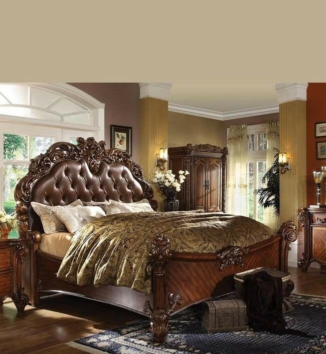 Best Formal Luxury Antique Vendome Cherry Eastern King Size Bed With Pictures