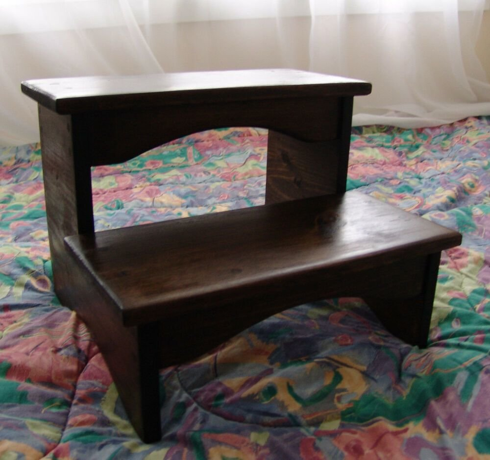 Best Handcrafted Heavy Duty Step Stool Wooden Bedside Bedroom With Pictures